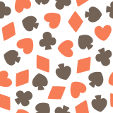 トランプ柄のパターンのフリーイラスト Clip art of trump pattern