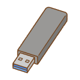 USBメモリのフリーイラスト Clip art of usb-flash-drive