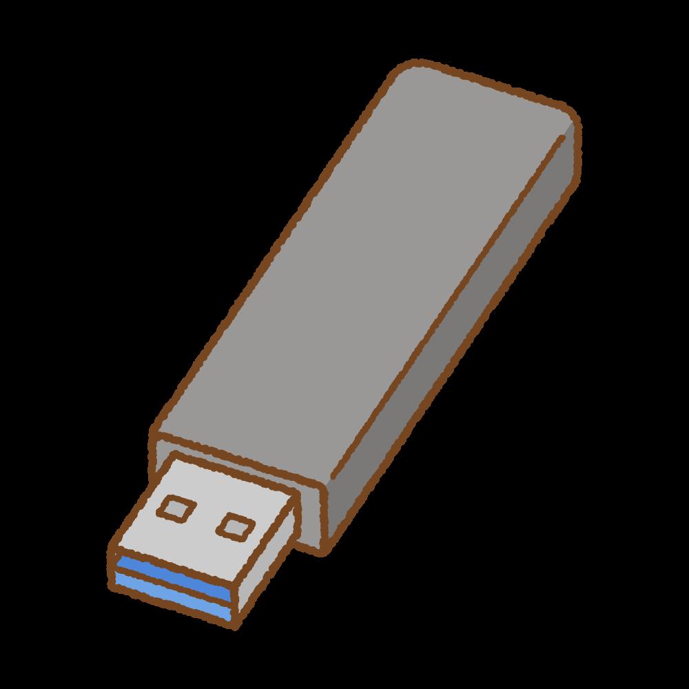 USBメモリのフリーイラスト Clip art of usb-flash-drive