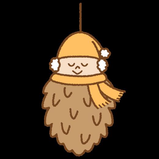 ミノムシのキャラクターのイラスト