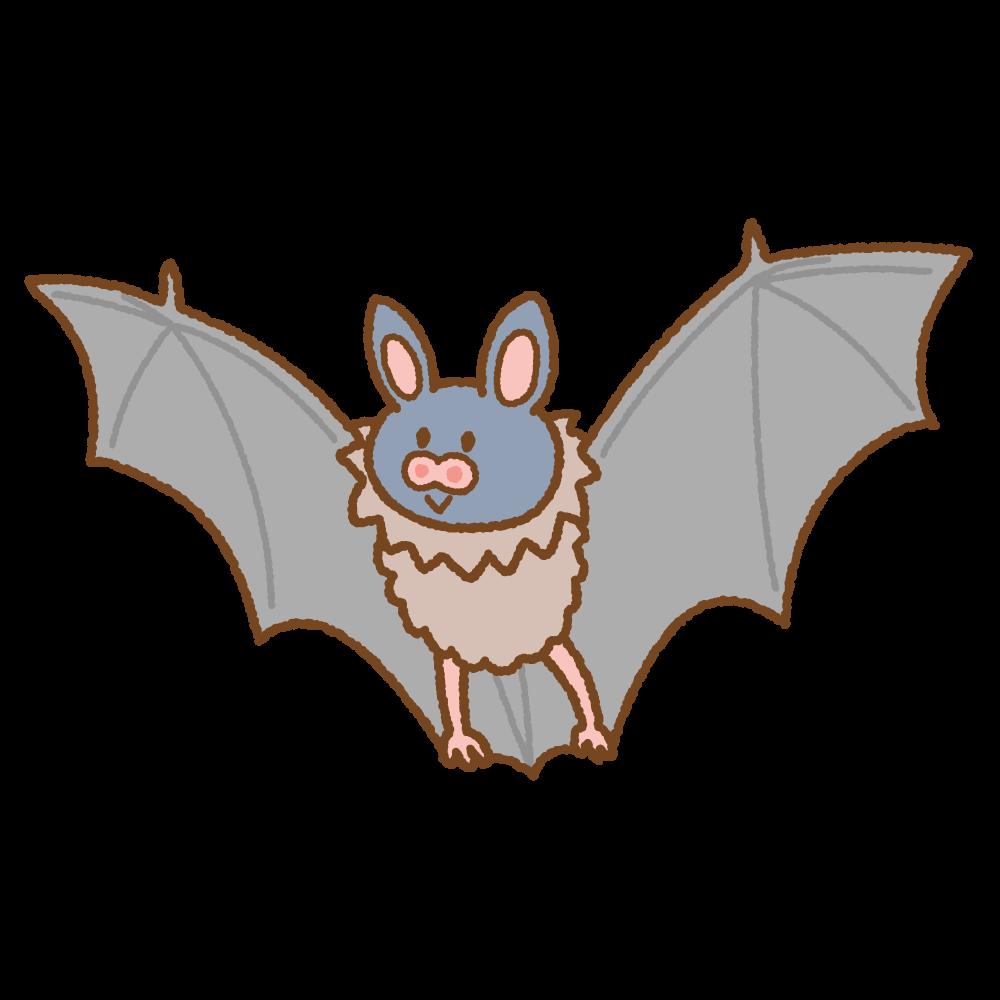 コウモリのフリーイラスト Clip art of bat