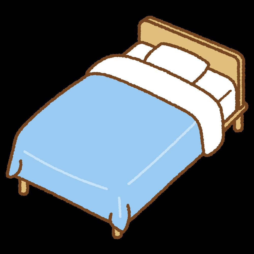 ベッドのフリーイラスト Clip art of bed