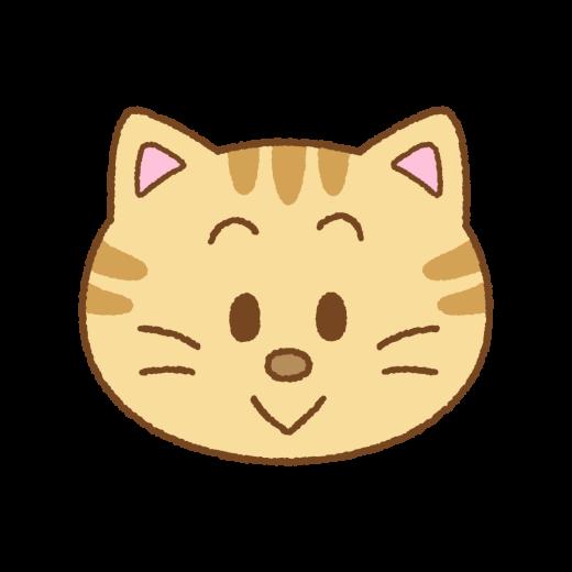 ネコの顔のイラスト