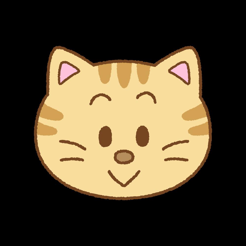 ネコの顔のフリーイラスト Clip art of cat face