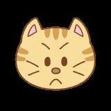 怒ったネコの顔のイラスト