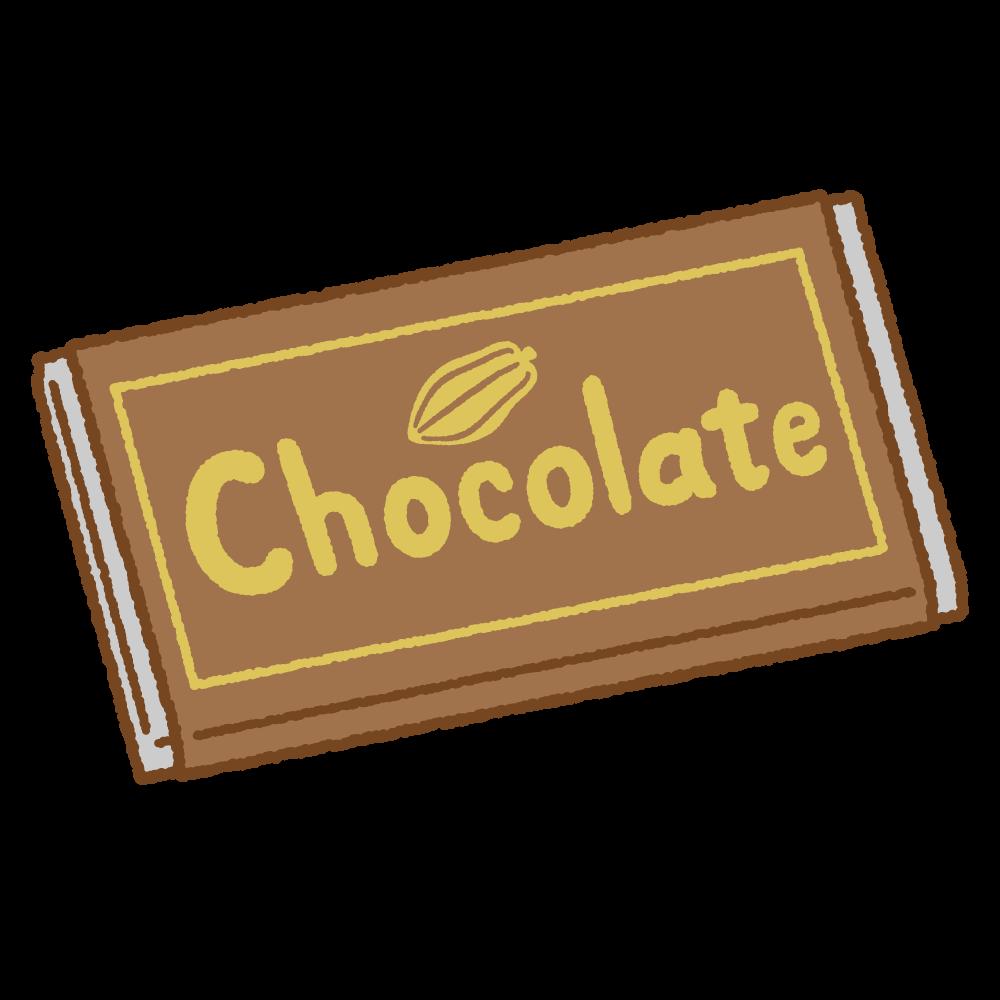 チョコレートのフリーイラスト Clip art of chocolate