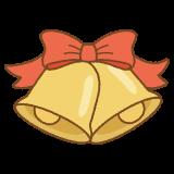 クリスマスベルのフリーイラスト Clip art of christmas-bell
