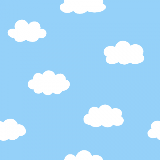 雲柄のパターンのイラスト