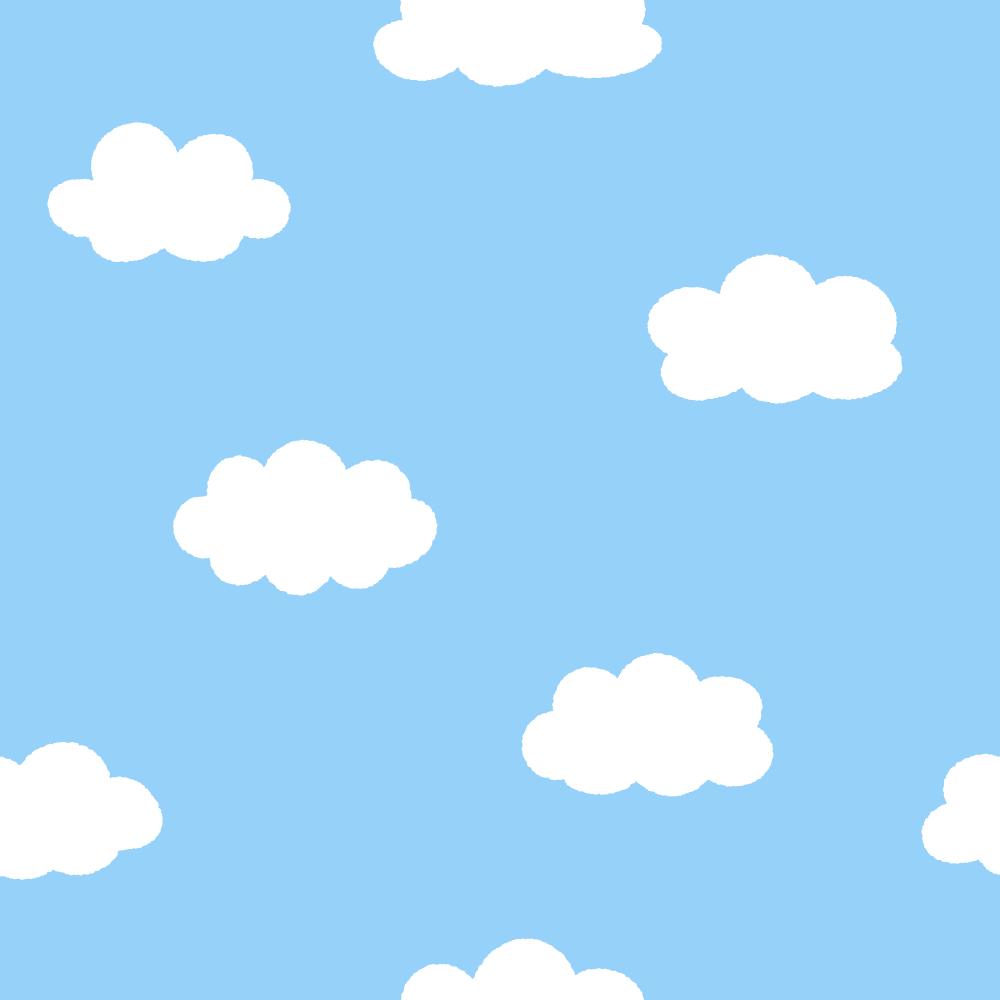 雲柄のパターンのフリーイラスト Clip art of cloud-pattern