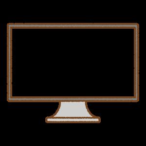 PCモニタのフリーイラスト Clip art of computer-monitor