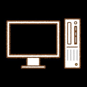 デスクトップパソコンのフリーイラスト Clip art of desktop-pc