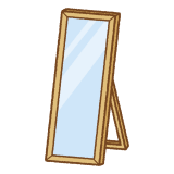 姿見のフリーイラスト Clip art of full length mirror
