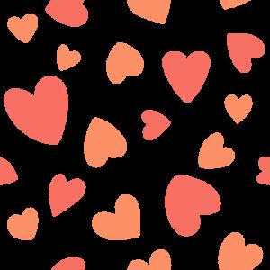 ハート柄のパターンのフリーイラスト Clip art of heart pattern
