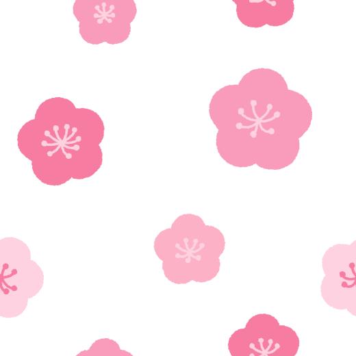 梅の花柄のパターンのイラスト