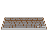 キーボードのフリーイラスト Clip art of keyboard