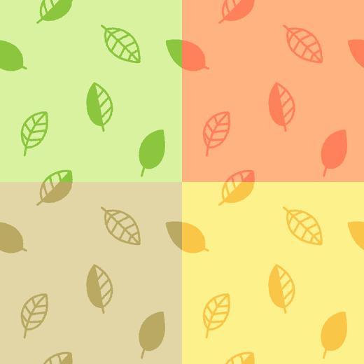 葉っぱ柄のパターンのイラスト