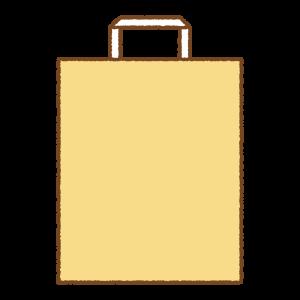 紙袋のフリーイラスト Clipart of paper-bag