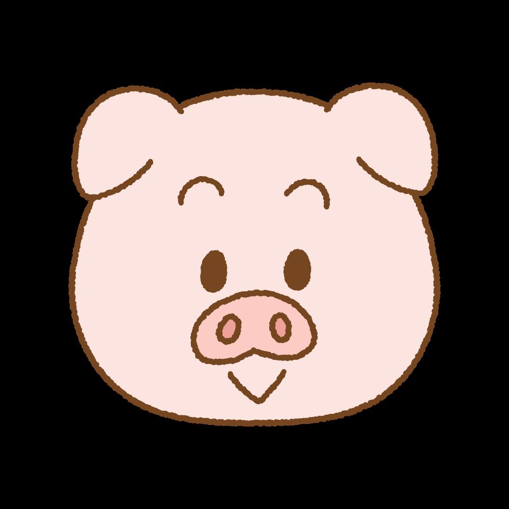 ブタの顔のフリーイラスト Clip art of pig face