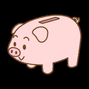 ブタの貯金箱のフリーイラスト Clip art of piggy-bank