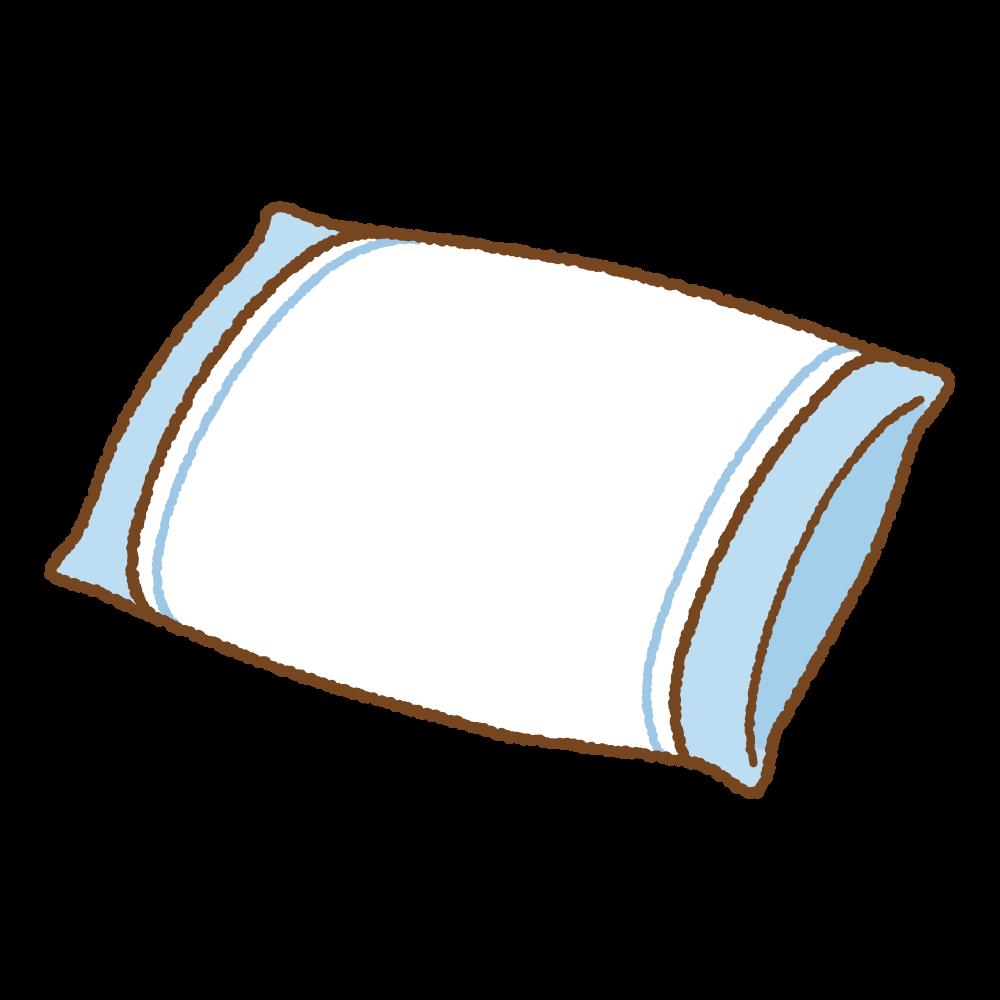 まくらのフリーイラスト Clip art of pillow