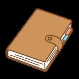 手帳のフリーイラスト Clip art of schedule-book