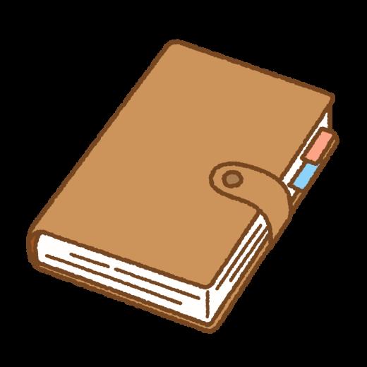 手帳のイラスト