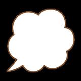 フキダシのフリーイラスト Clip art of speech bubbles