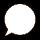 フキダシのフリーイラスト Clip art of speech bubble