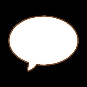 フキダシのフリーイラスト Clip art of speech-bubbles