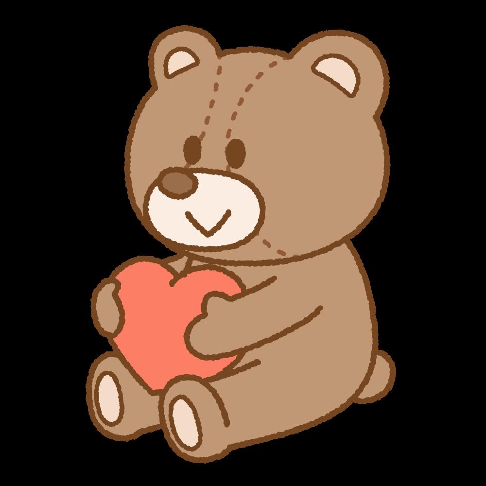 クマのぬいぐるみのフリーイラスト Clip art of stuffed-bear