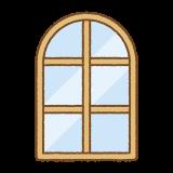 アーチ型の窓のイラスト