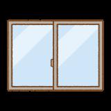 窓のフリーイラスト Clip art of window