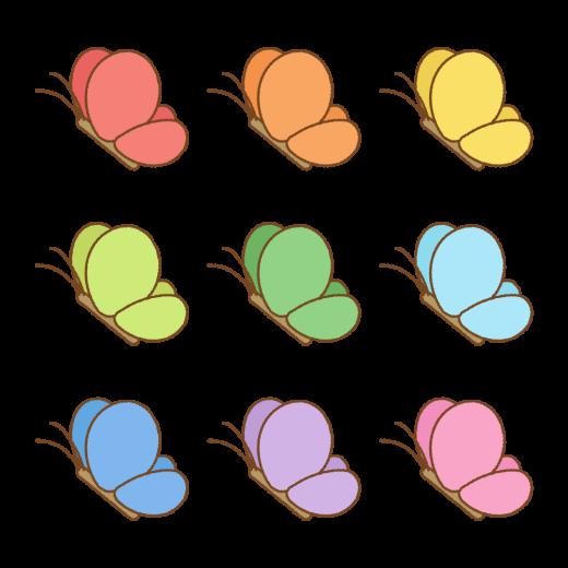 チョウのイラスト