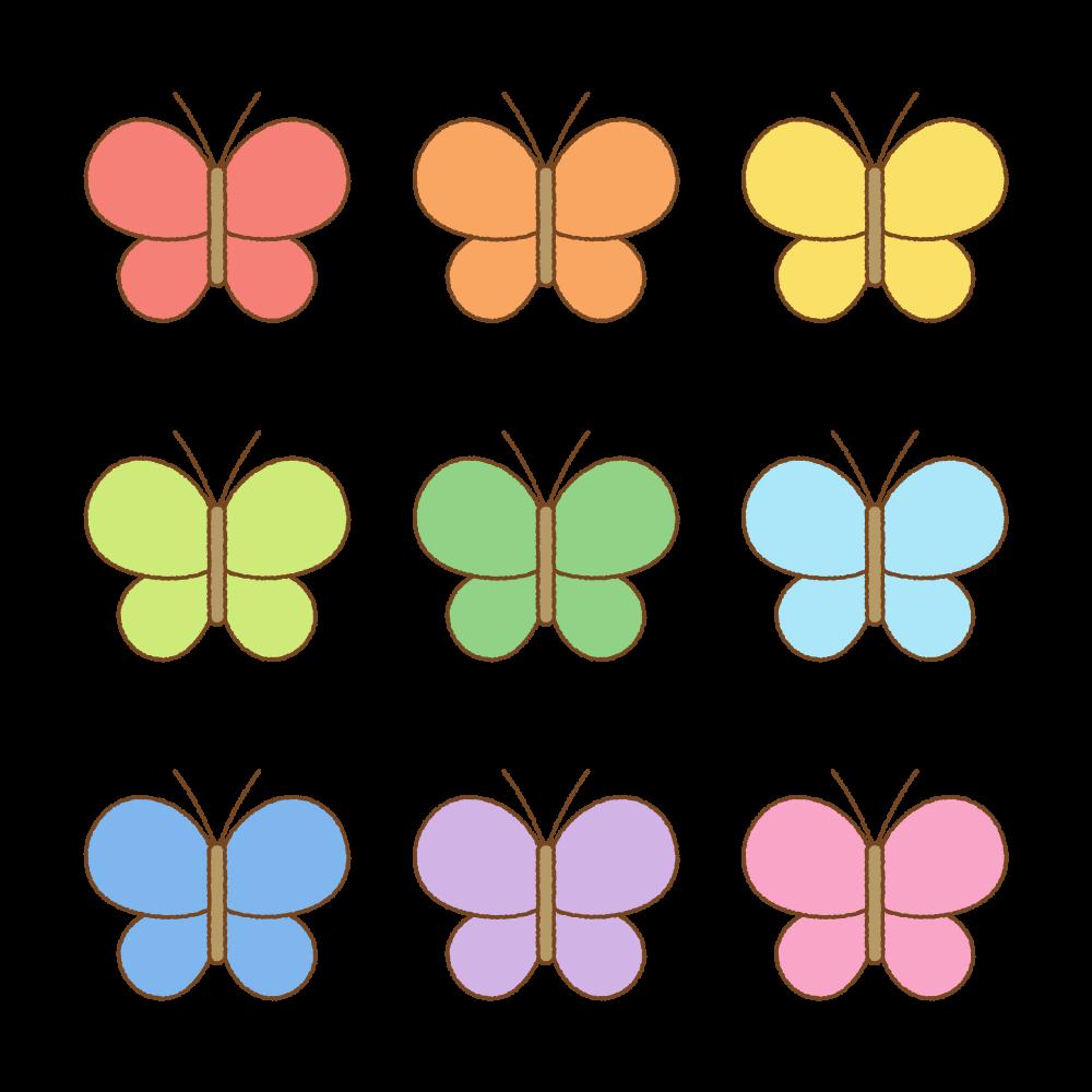 チョウのフリーイラスト Clip art of butterfly