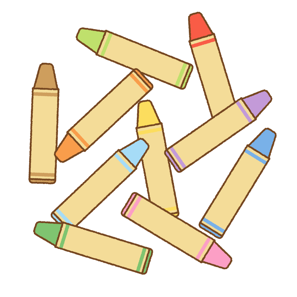 クレヨンのフリーイラスト Clip art of crayon
