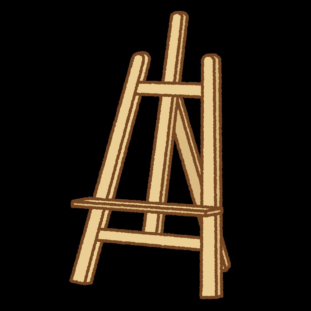 イーゼルのフリーイラスト Clip art of easel