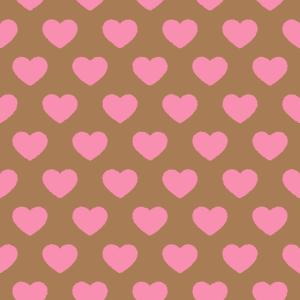 ハート模様のパターンのイラスト Clip art of heart pattern