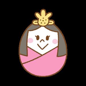 タマゴ型の雛人形のフリーイラスト Clip art of egg hinaningyou