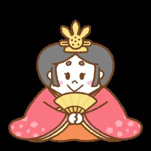 雛人形のフリーイラスト Clip art of hinaningyou