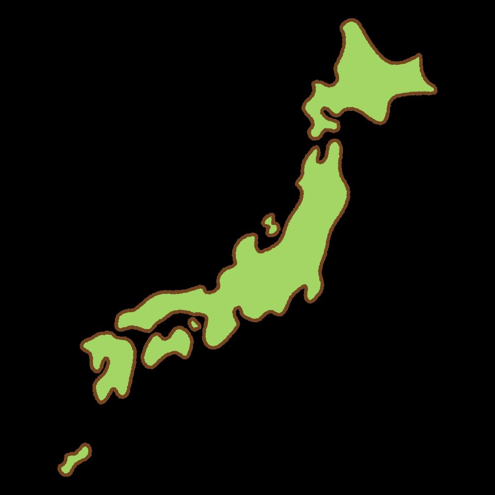 日本の地図のフリーイラスト Clip art of japan map