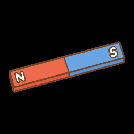 I字の磁石のイラスト
