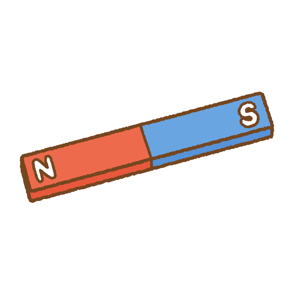 磁石のフリーイラスト Clip art of magnet I