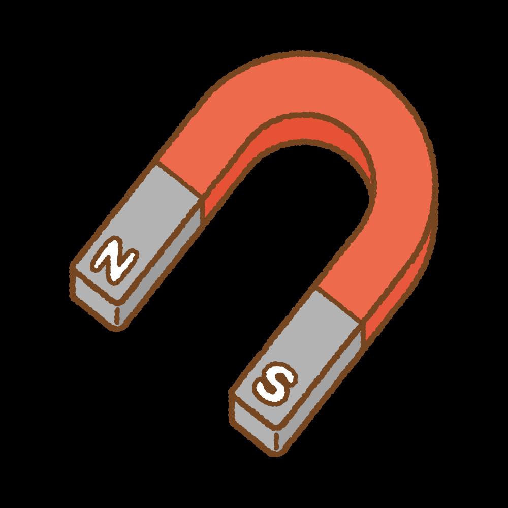 磁石のフリーイラスト Clip art of magnet U