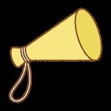 メガホンのフリーイラスト Clip art of megaphone
