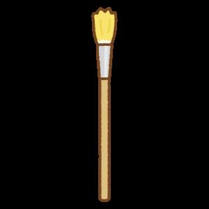 絵筆のフリーイラスト Clip art of paint-brush