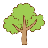 木のフリーイラスト Clip art of tree