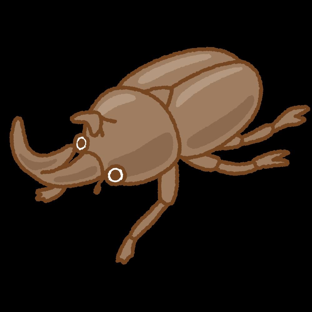 カブトムシのフリーイラスト Clip art of male beetle