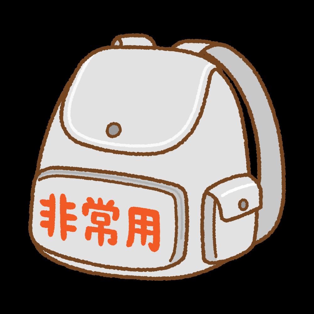 非常持出袋のフリーイラスト Clip art of emergency-bag