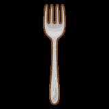 フォークのフリーイラスト Clip art of fork
