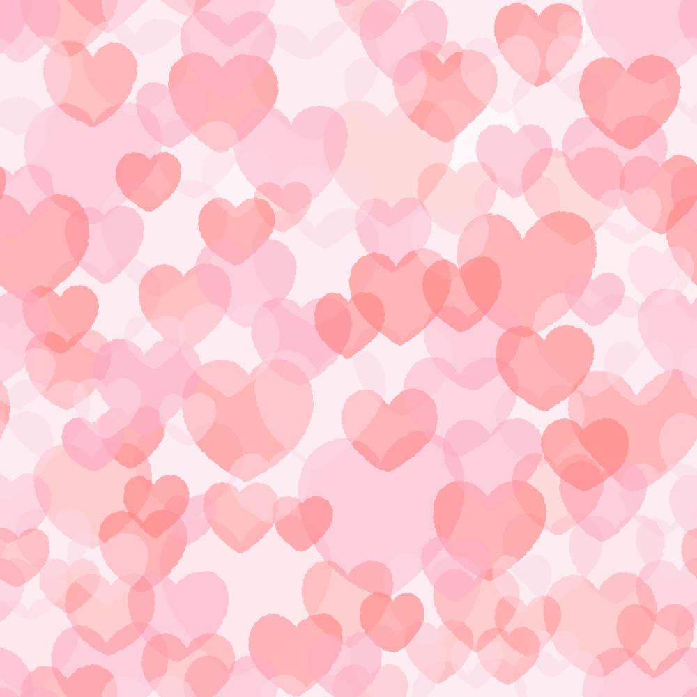 ハートのパターンのフリーイラスト Clip art of heart random pattern